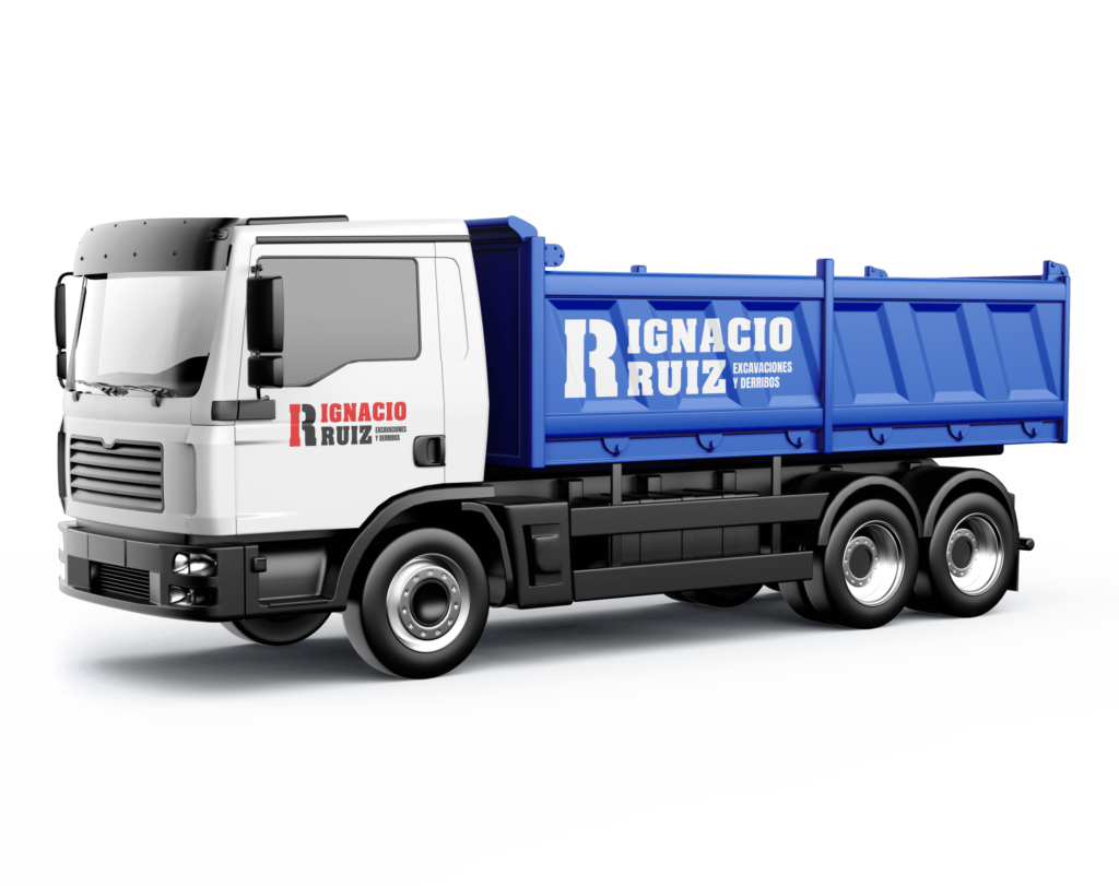 camión con contenedor